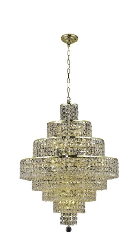 Elegant Lighting 2039D26G Maxim 18-Light Eight-Tier Crystal Sale $4656.00 ITEM#: 2013846 MODEL# :2039D26G/SA UPC#: 848145044066 :
