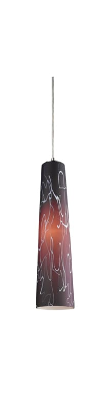 """Elk Lighting 10207/1 19"""" Height 1 Light Pendant with a Glass Conic"""