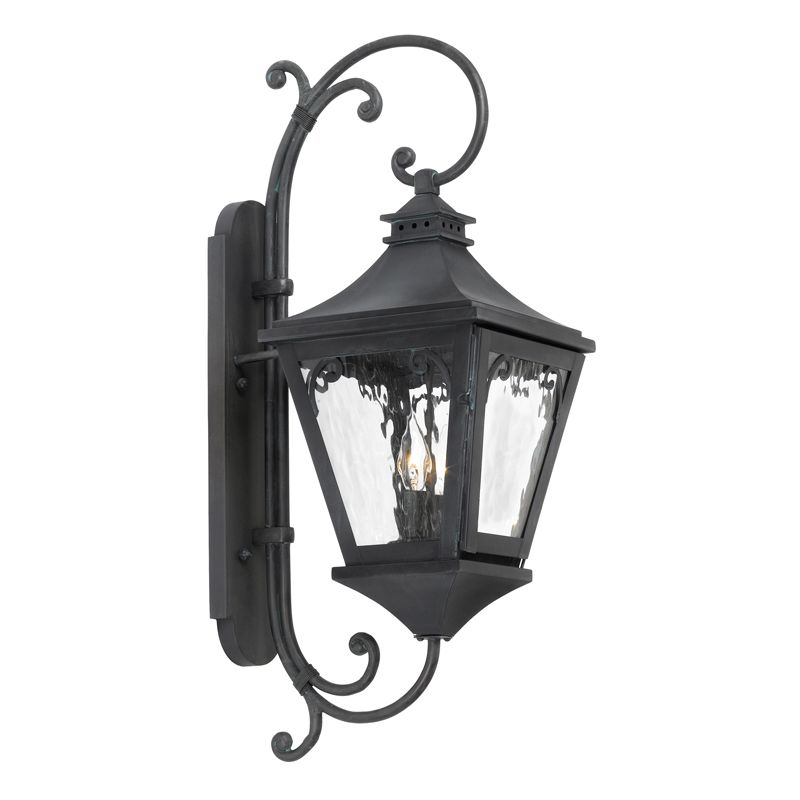 Elk Lighting 6711-C Manor 2 Light 26 Inch Solid Brass Tall Outdoor