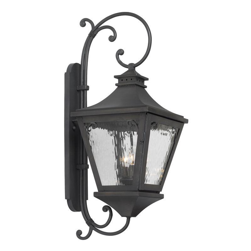 Elk Lighting 6712-C Manor 3 Light 33 Inch Solid Brass Tall Outdoor