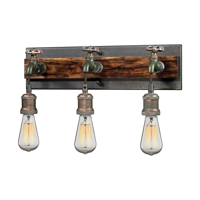 Elk Lighting 14282/3 Jonas 3 Light Wall Sconce Multi-tone Weathered Sale $318.00 ITEM#: 2614672 MODEL# :14282/3 UPC#: 748119087863 :