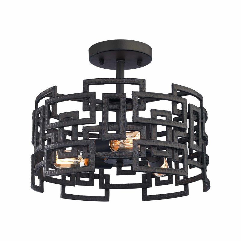 Elk Lighting 14331/3 3 Light Semi Flush Ceiling Fixture from the