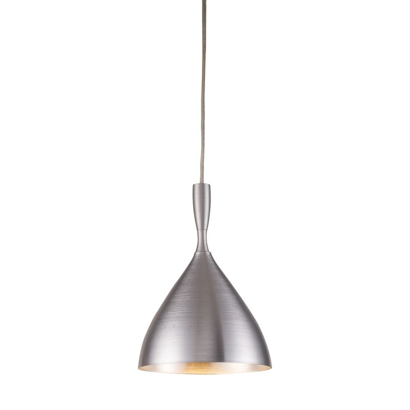 "Elk Lighting 17042/1 Spun Aluminum Single Light 7"" Wide Mini Pendant"