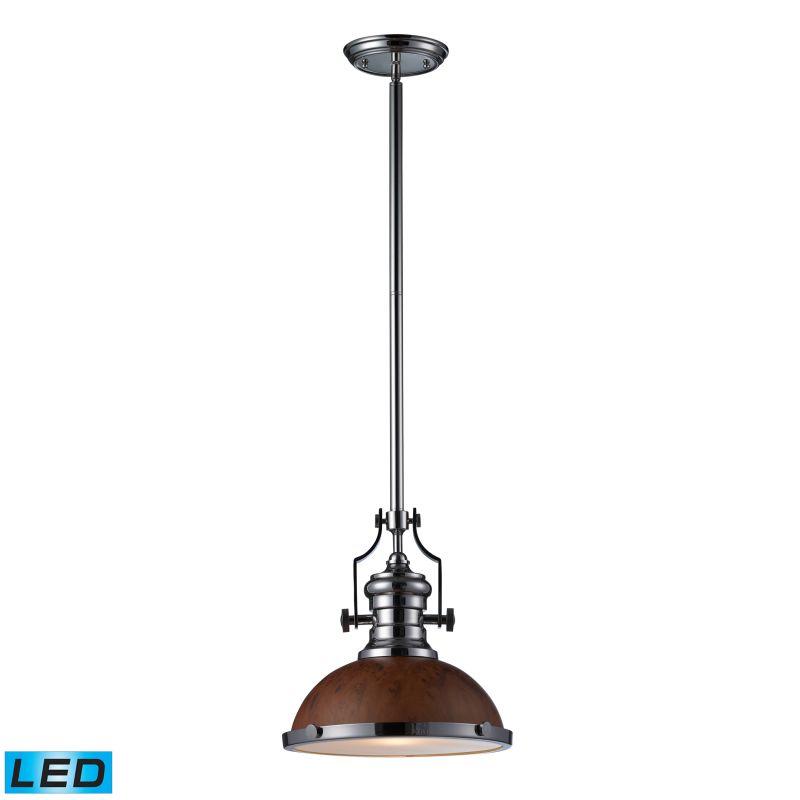 Elk Lighting 66565-1-LED Chadwick 1 Light LED Pendant Polished Nickel Sale $252.00 ITEM#: 2583274 MODEL# :66565-1-LED UPC#: 830335021063 :
