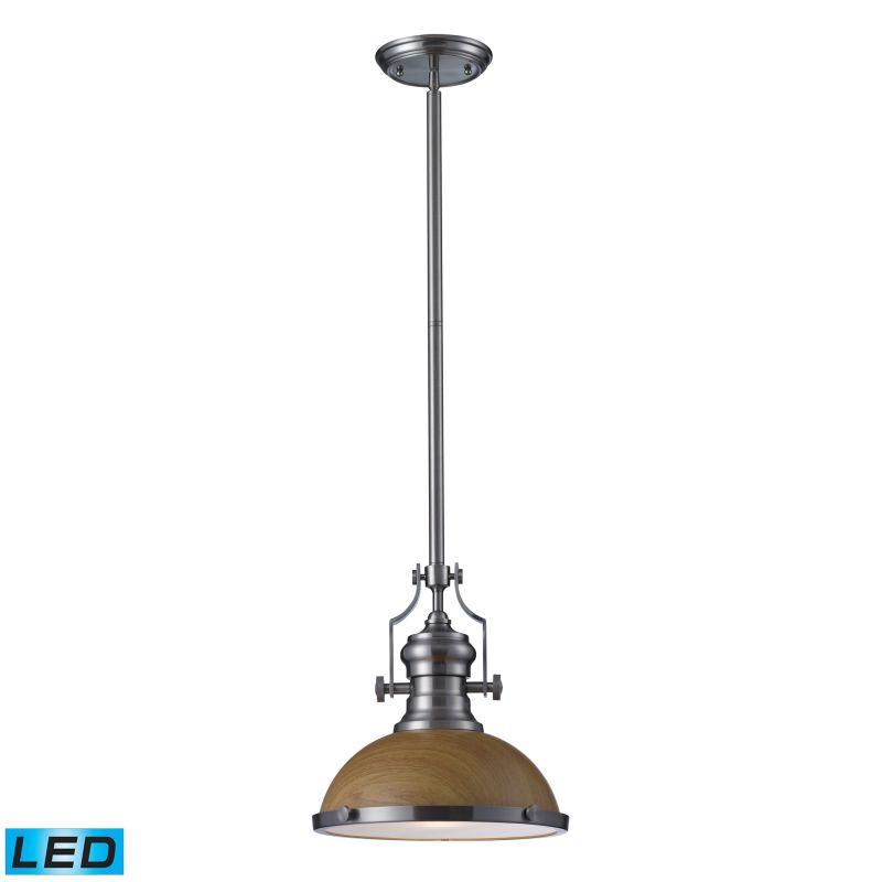 Elk Lighting 66574-1-LED Chadwick 1 Light LED Pendant Satin Nickel Sale $252.00 ITEM#: 2583278 MODEL# :66574-1-LED UPC#: 830335021087 :