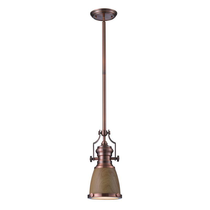 Elk Lighting 66712-1 Chadwick 1 Light Pendant Antique Copper Indoor Sale $182.00 ITEM#: 2583307 MODEL# :66712-1 UPC#: 830335016465 :