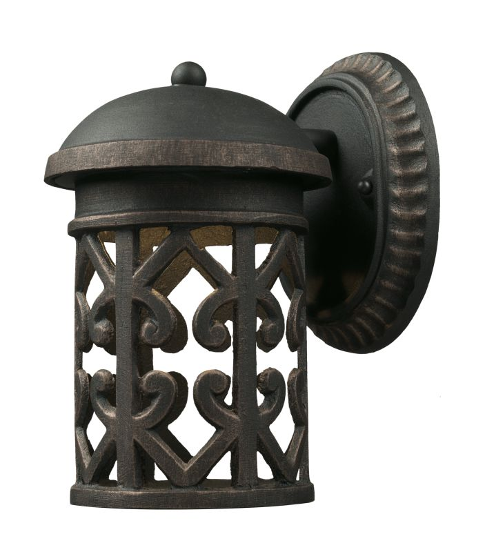 Elk Lighting 42365/1 1 Light Outdoor Sconce from the Tuscany Coast