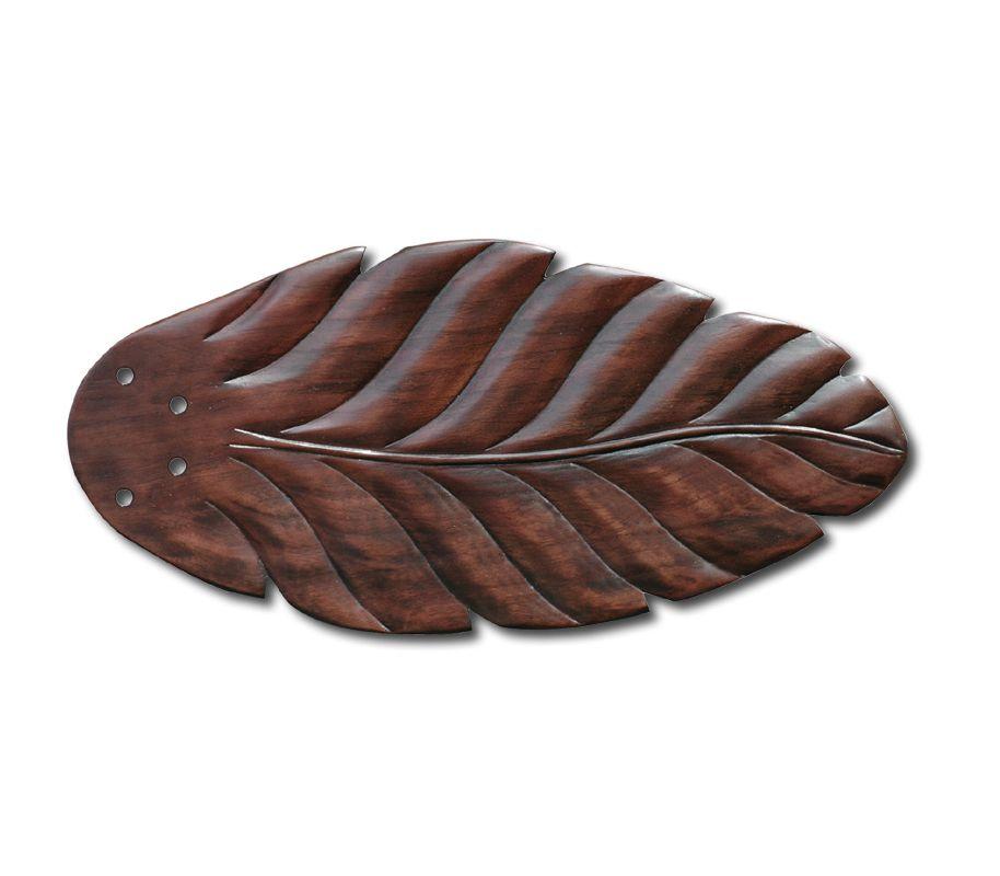 Emerson B50 Fan Blades for Maui Bay Fans Hand Carved Leaf - Dark