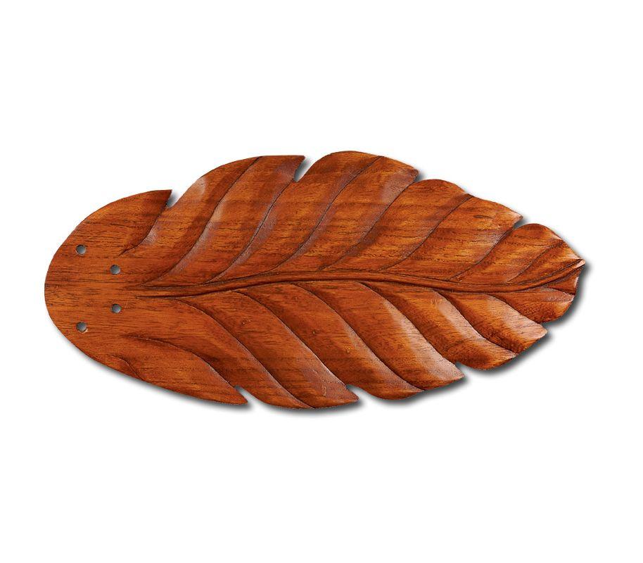 Emerson B50 Fan Blades for Maui Bay Fans Hand Carved Leaf / Dark Oak