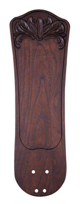 Emerson B97DWA Solid Wood Hand Carved Blade Dark Walnut Ceiling Fan