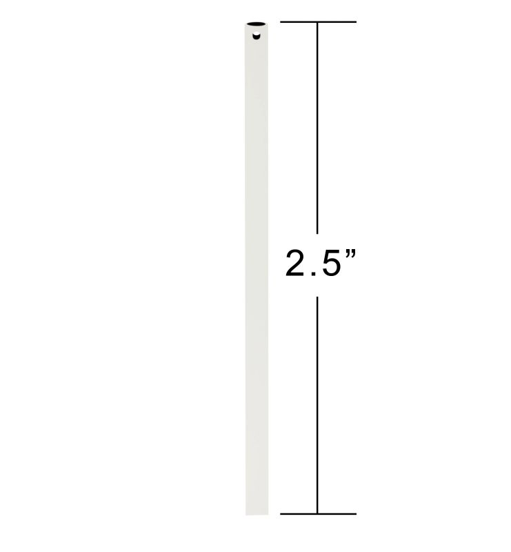 "Emerson CFDR25 2.5"" Downrod / Close to Ceiling Satin White Ceiling Fan"