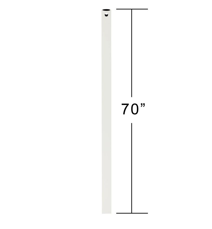 "Emerson CFDR70 70"" Downrod for Ceiling Fan Satin White Ceiling Fan"