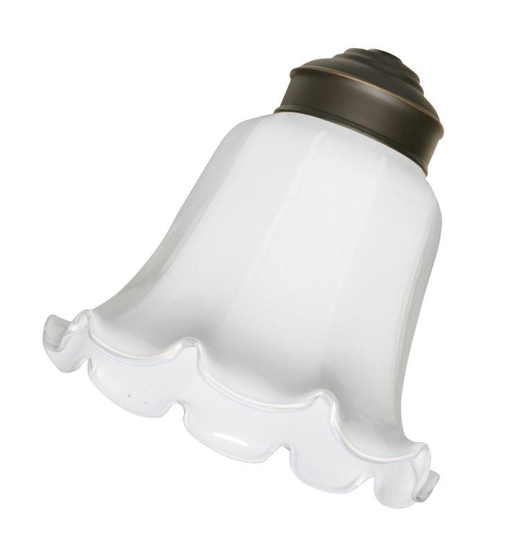 Emerson CFGRW Fan Light Kit Glassware Ribbed White Glass Ceiling Fan