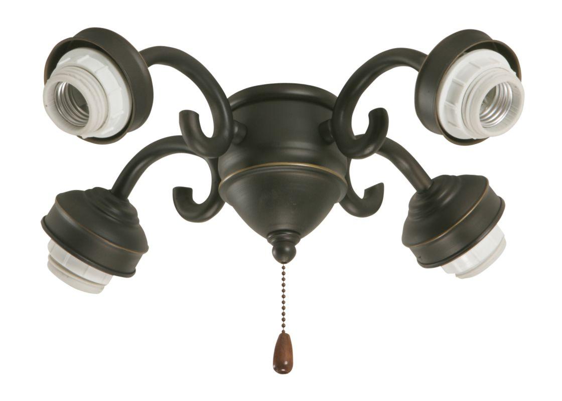 Emerson F490 Decorative Four Arm Fitter Golden Espresso Ceiling Fan