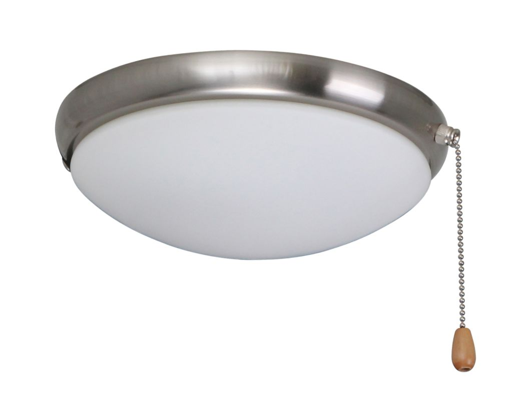 Emerson LK65 2 Light Low Profile Light Fixture Brushed Steel Ceiling