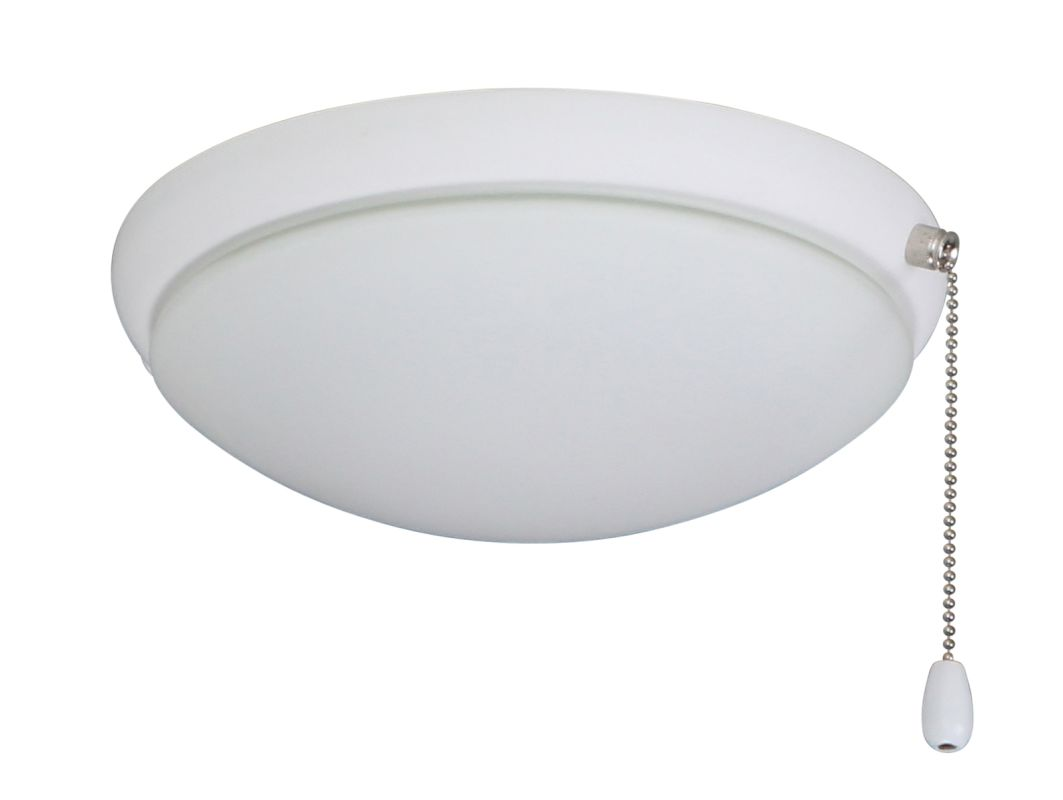 Emerson LK65 2 Light Low Profile Light Fixture Satin White Ceiling Fan
