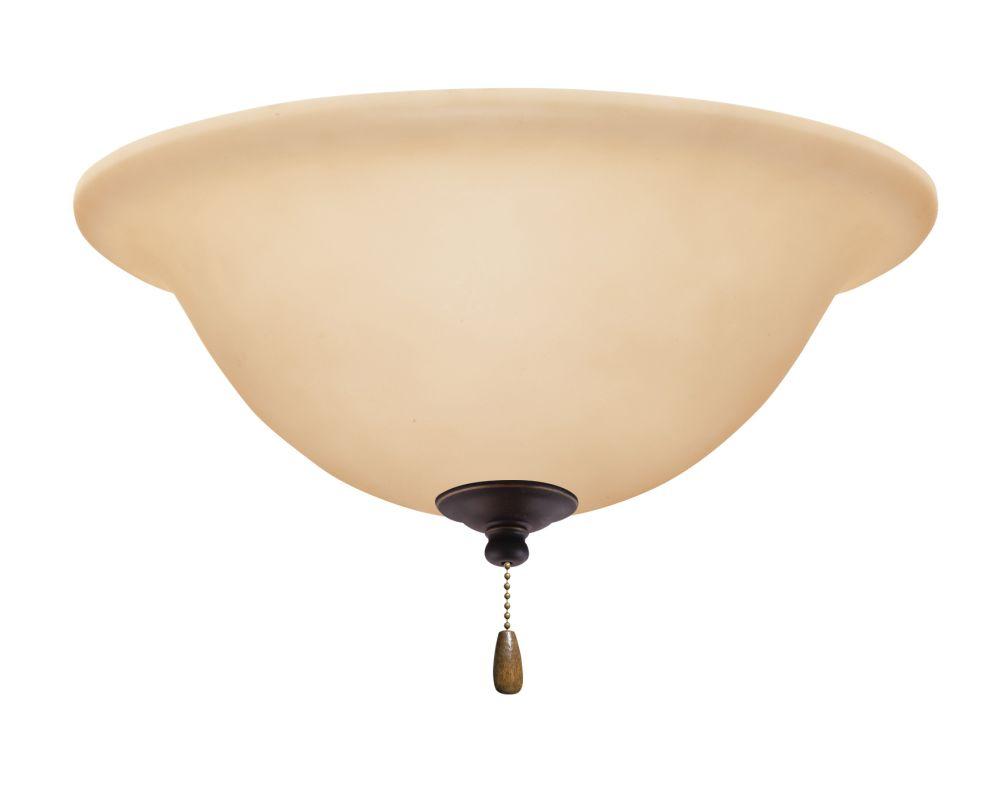 Emerson LK72 Bowl Light Fixture Golden Espresso Ceiling Fan