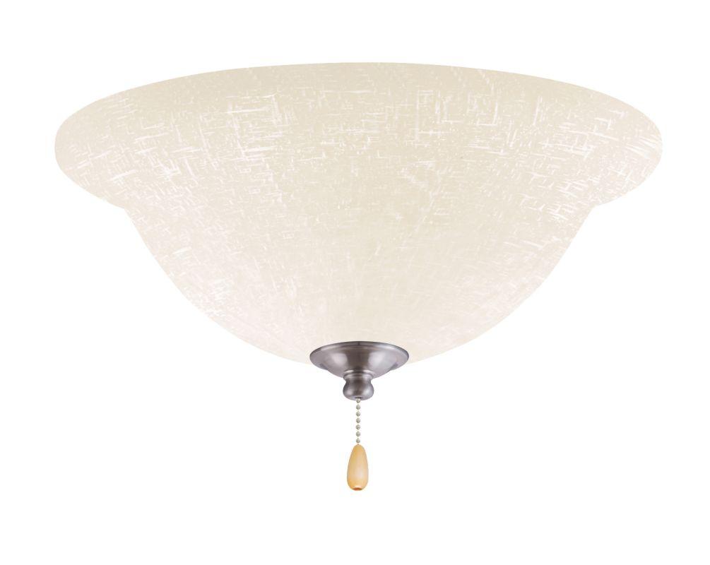 Emerson LK77LED White Linen 1 Light LED Ceiling Fan Light Kit Brushed Sale $159.00 ITEM#: 2630921 MODEL# :LK77LEDBS :