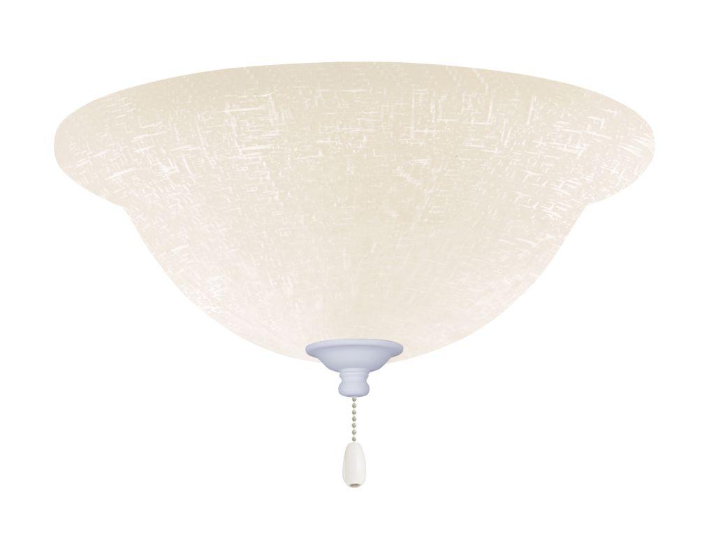 Emerson LK77 Bowl Light Fixture Satin White Ceiling Fan Accessories