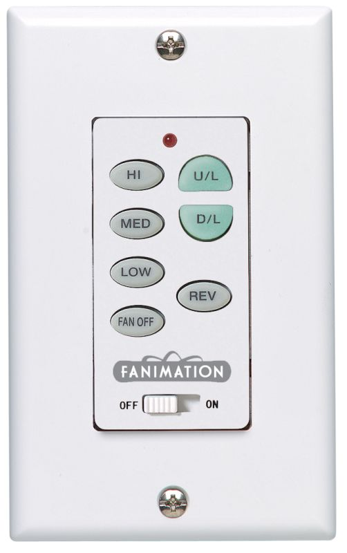 Fanimation C23 3 Speed Reversible Fan and Up / Down Light Wall Control