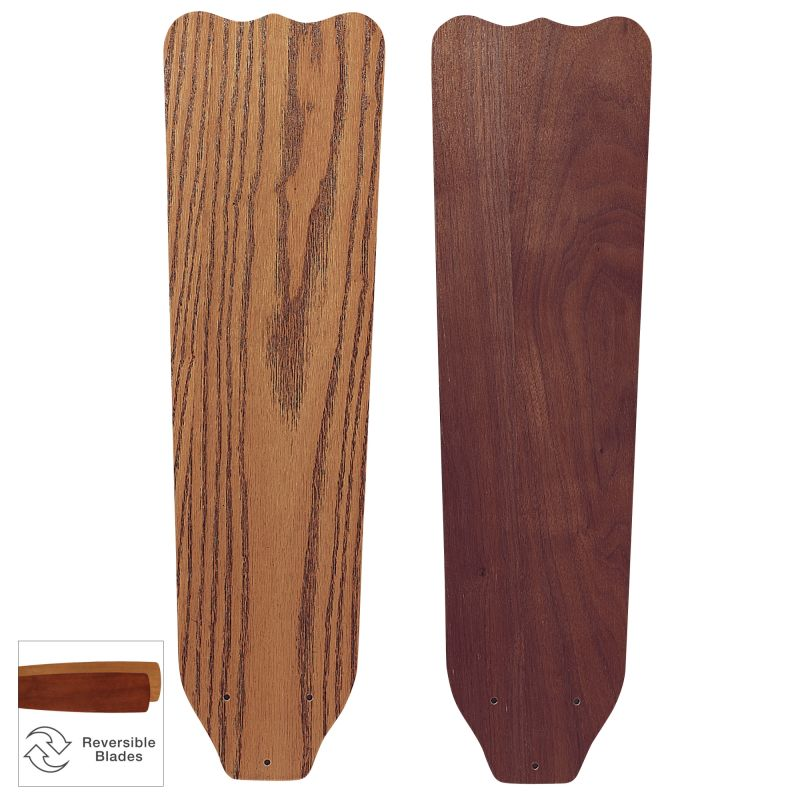 """Fanimation FP1022 25"""" Reversible Wood Blades for 56"""" Brewmaster"""