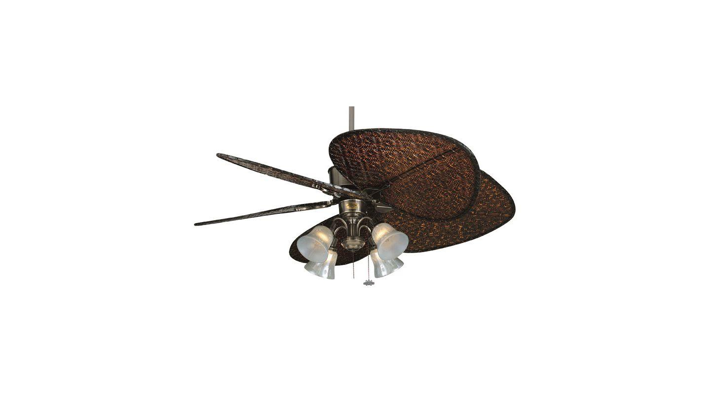 "Fanimation FP320-ISD1A-F404PW-G235 Islander 52"" 5 Blade Ceiling Fan -"