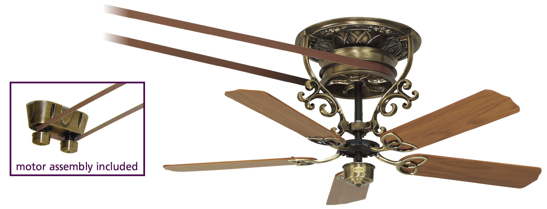 "Fanimation FP580-18-S1 52"" Belt Drive 5 Blade Ceiling Fan - Blades"