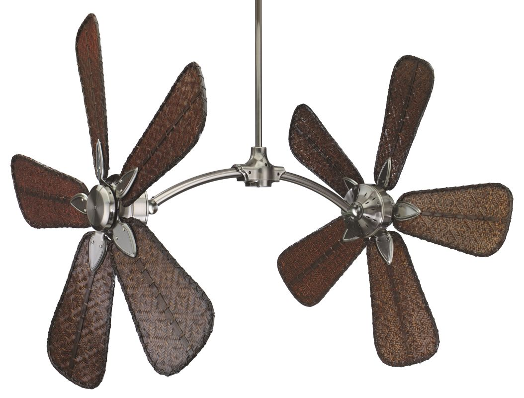 "Fanimation FP7000-CAISD7A Caruso 52"" 10 Blade Dual Ceiling Fan -"