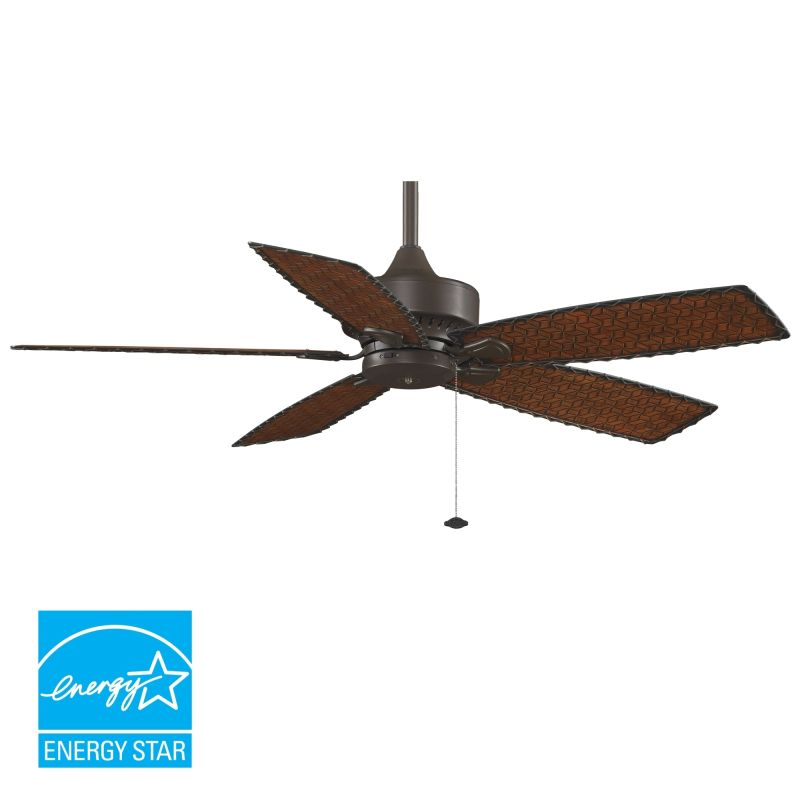 "Fanimation FP8012 52"" 5 Blade FanSync Compatible Outdoor Ceiling Fan -"