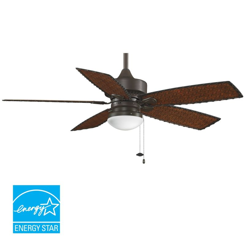 "Fanimation FP8016 52"" 5 Blade FanSync Compatible Outdoor Ceiling Fan -"