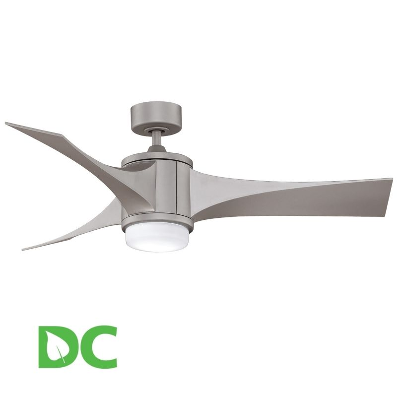 "Fanimation Jennix 52"" 3 Blade DC Ceiling Fan - Blades Light Kit and"