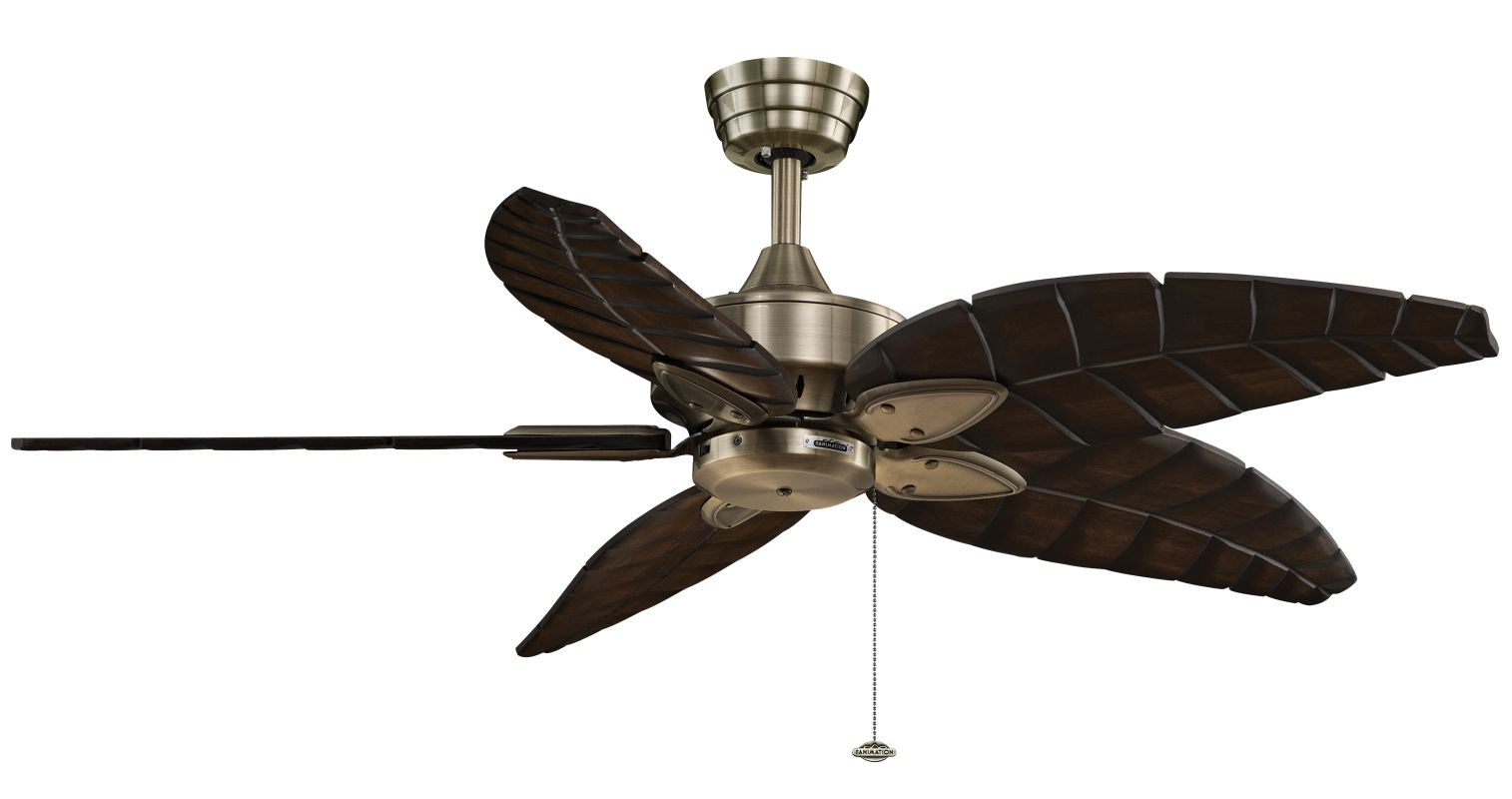 "Fanimation MA7500-B5340WA Windpointe 52"" 5 Blade Ceiling Fan - Walnut"