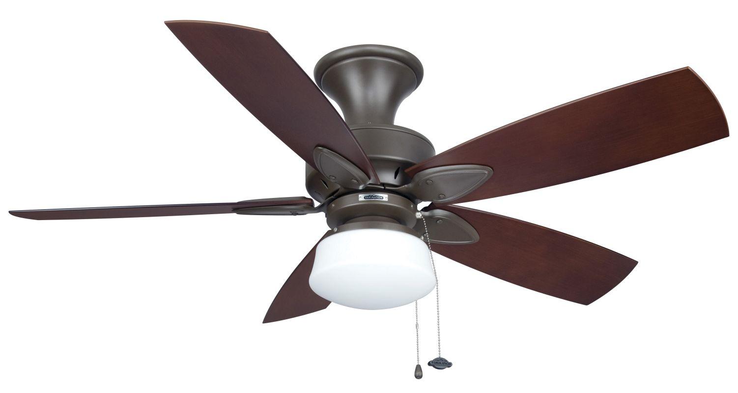 """Fanimation MA7500-BPW20MH-LKLP102OB Windpointe 48"""" 5 Blade Ceiling Fan"""