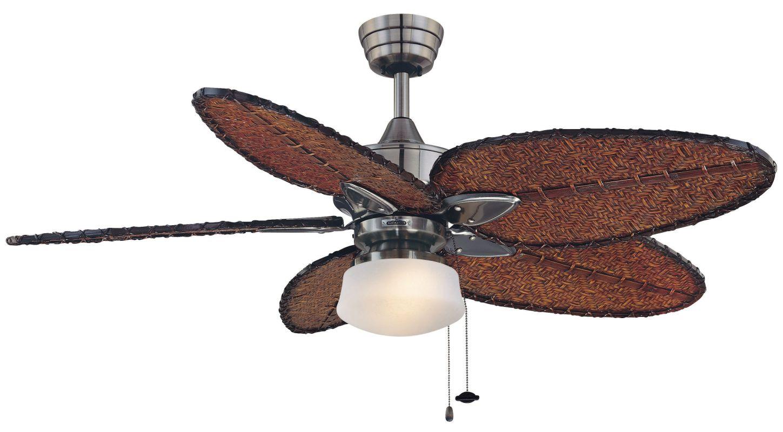 """Fanimation MA7500-ISD4A-LKLP112WPW Windpointe 52"""" 5 Blade Ceiling Fan"""