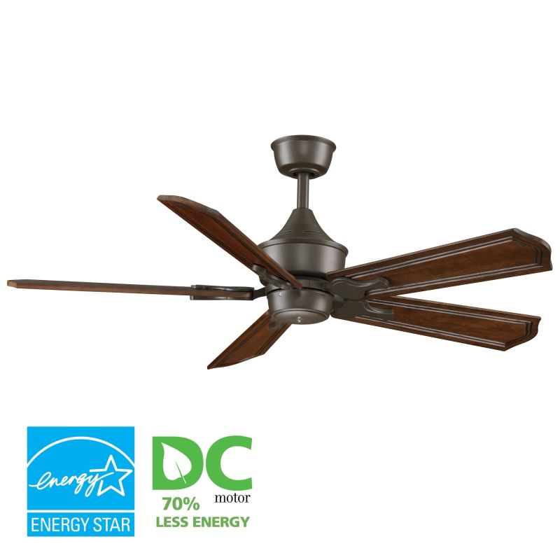 "Fanimation MAD3250-B5131RC Islander 52"" 5 Blade DC Ceiling Fan - Rich"
