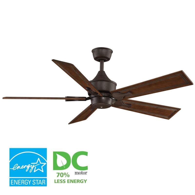 "Fanimation MAD3250-B5132RC Islander 52"" 5 Blade DC Ceiling Fan - Rich"