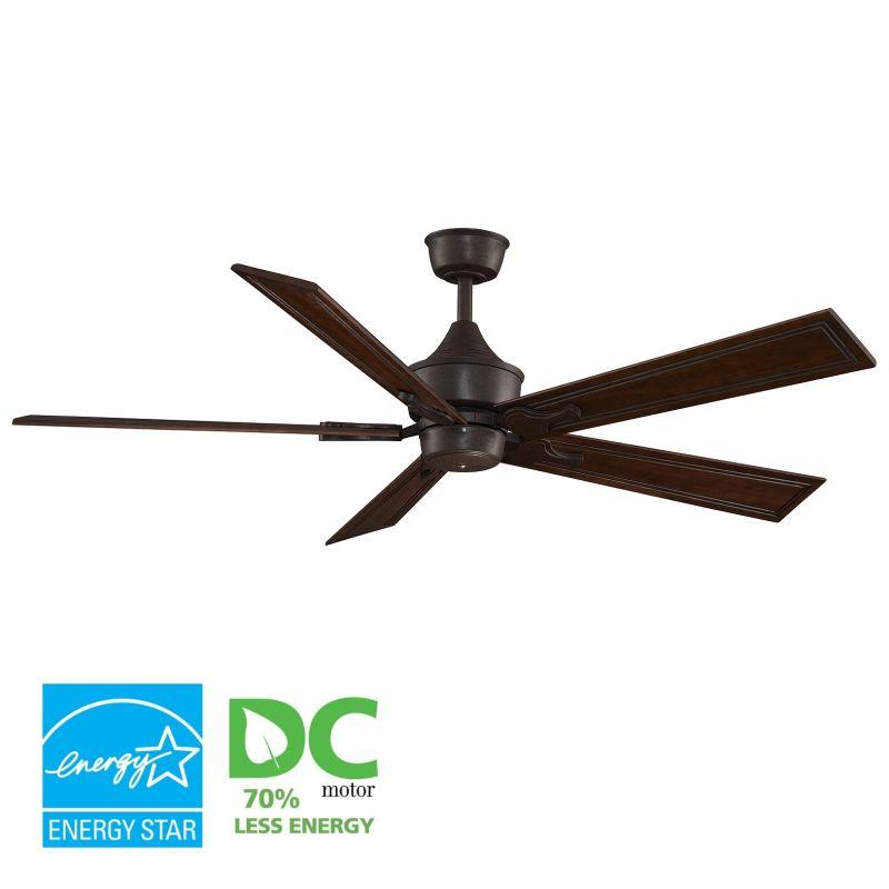 """Fanimation MAD3250-B6132DC Islander 60"""" 5 Blade DC Ceiling Fan - Dark"""