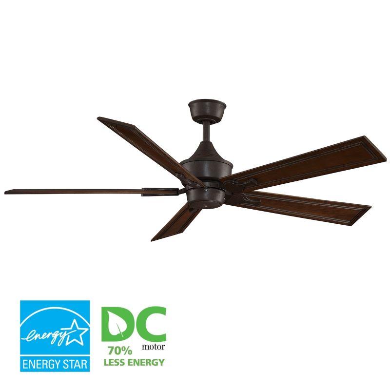 """Fanimation MAD3250-B6132RC Islander 60"""" 5 Blade DC Ceiling Fan - Rich"""