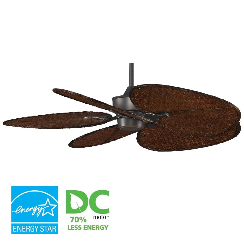 "Fanimation MAD3250-ISD1A Islander 52"" 5 Blade DC Ceiling Fan - Antique"