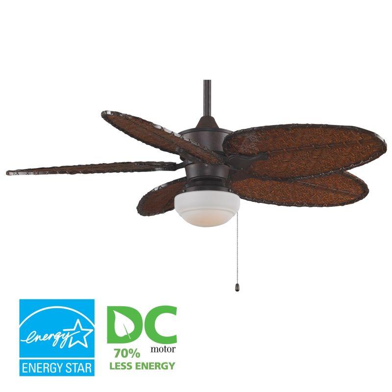 "Fanimation MAD3250-ISD4A-LKLP101RS Islander 52"" 5 Blade DC Ceiling Fan"