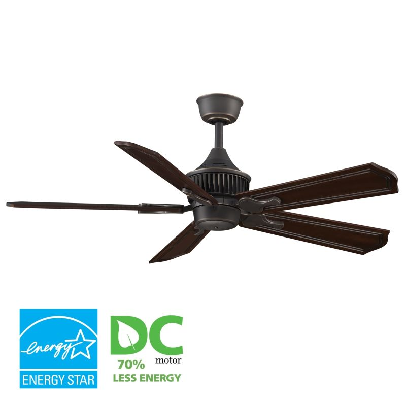 "Fanimation MAD3255-B5131DC Louvre 52"" 5 Blade DC Ceiling Fan - Dark"