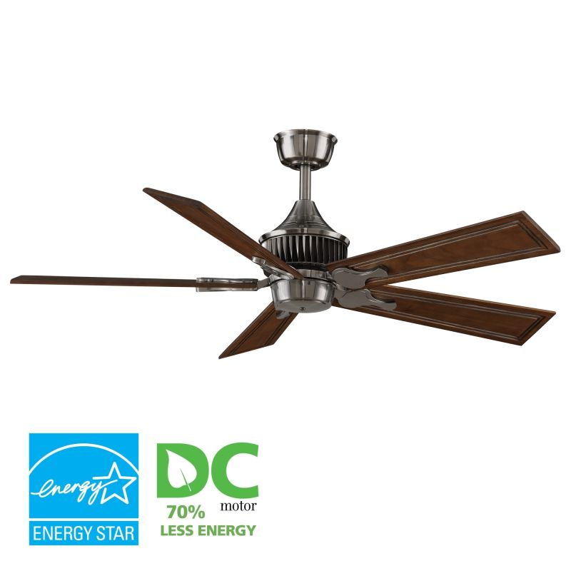 "Fanimation MAD3255-B5132RC Louvre 52"" 5 Blade DC Ceiling Fan - Rich"