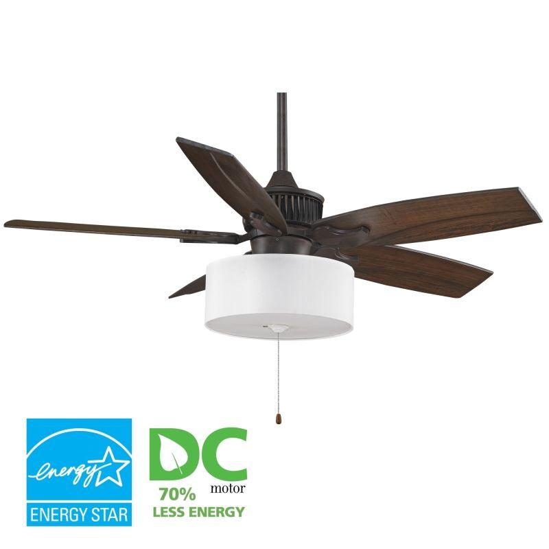 """Fanimation MAD3255-B5310WA-LK113WH Louvre 52"""" 5 Blade DC Ceiling Fan -"""