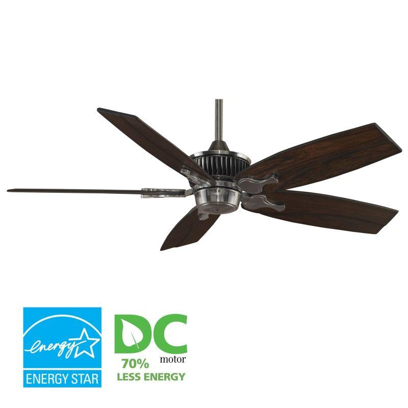 """Fanimation MAD3255-B5330WA Louvre 52"""" 5 Blade DC Ceiling Fan - Walnut"""