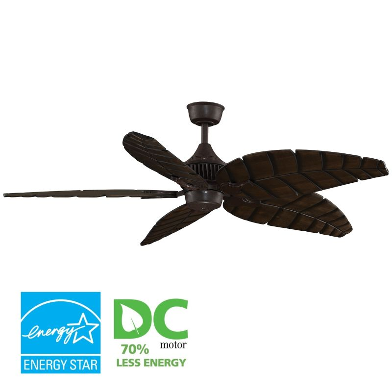 "Fanimation MAD3255-B5350WA Louvre 60"" 5 Blade DC Ceiling Fan - Walnut"