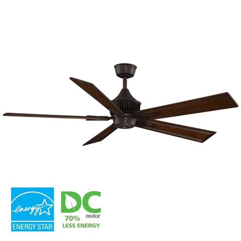 "Fanimation MAD3255-B6132RC Louvre 60"" 5 Blade DC Ceiling Fan - Rich"