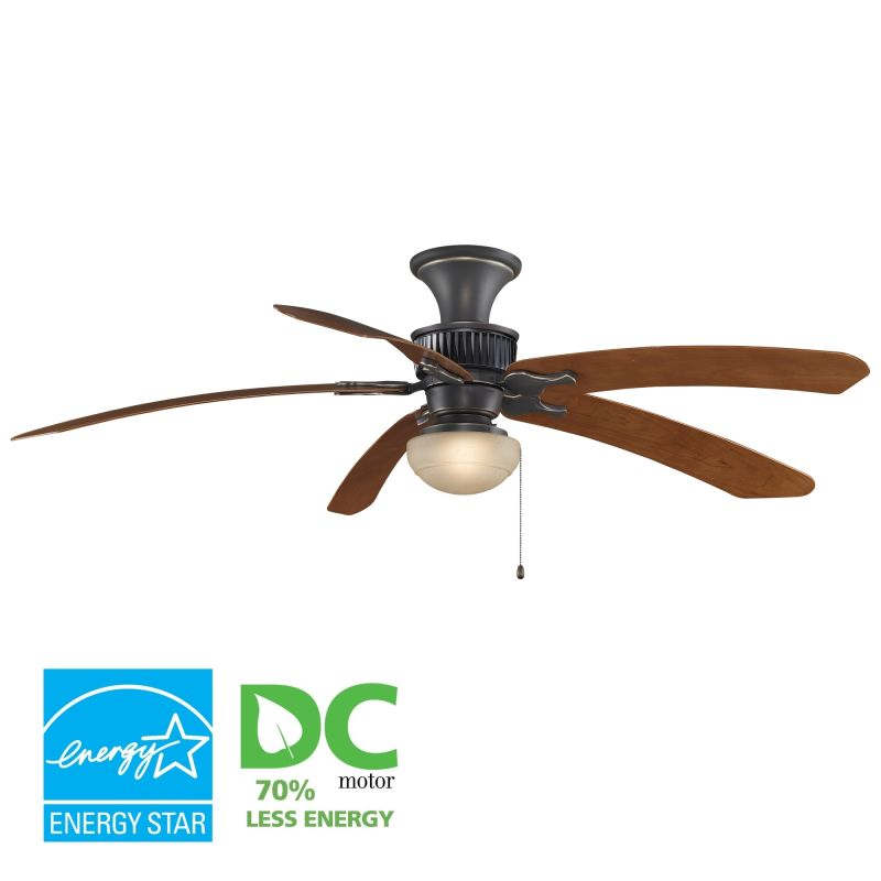 "Fanimation MAD3255-BPW6030CY-LKLP111ABA Louvre 68"" 5 Blade DC Ceiling"