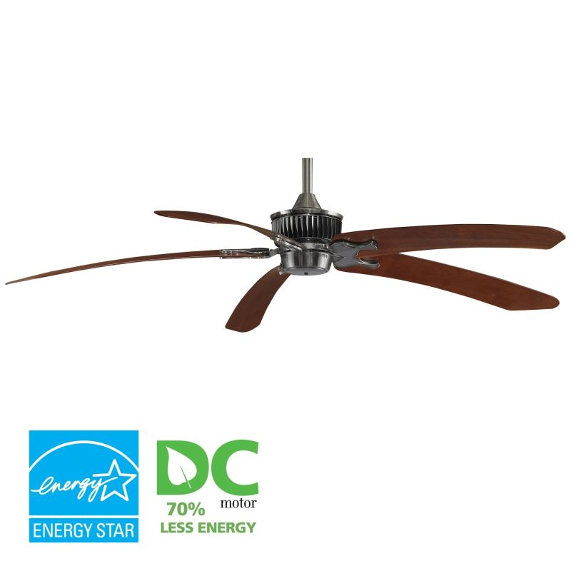 "Fanimation MAD3255-BPW6030MH Louvre 68"" 5 Blade DC Ceiling Fan -"