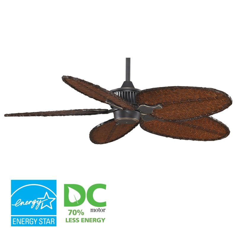 "Fanimation MAD3255-ISD4A Louvre 52"" 5 Blade DC Ceiling Fan - Antique"
