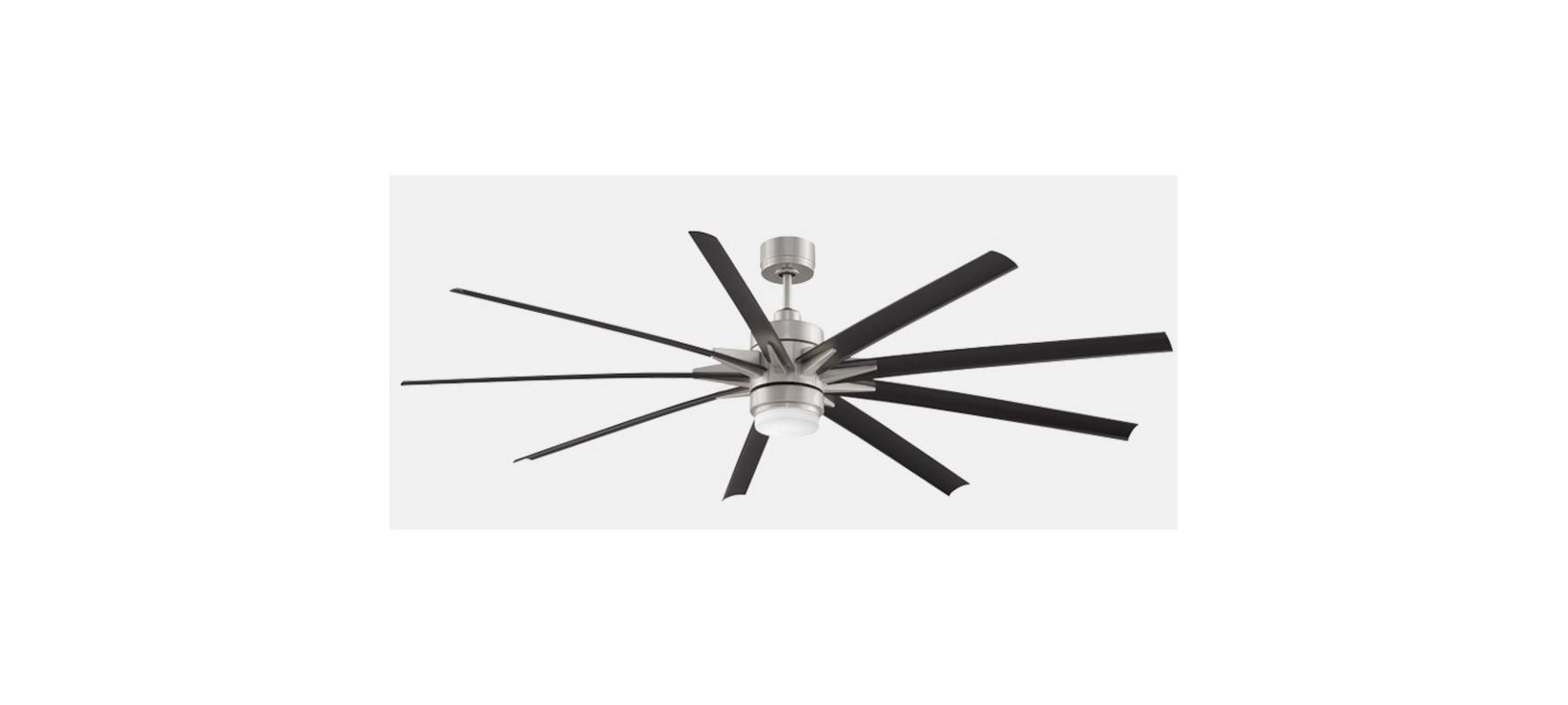 "Fanimation FPD8149WBN 9 Blade 84"" Indoor Ceiling Fan - Blades Remote"